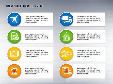 Transportation and Logistics Process with Icons, Slide 14, 01773, Business Models — PoweredTemplate.com