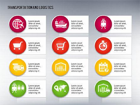 Transportation and Logistics Process with Icons, Slide 15, 01773, Business Models — PoweredTemplate.com