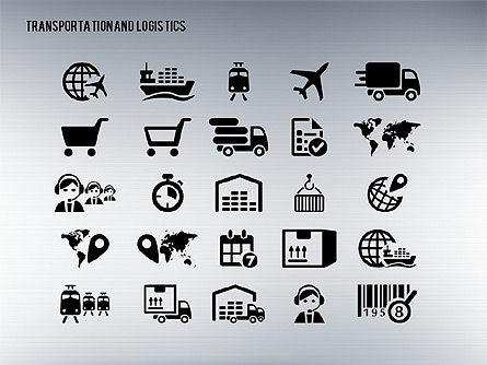Transportation and Logistics Process with Icons, Slide 16, 01773, Business Models — PoweredTemplate.com