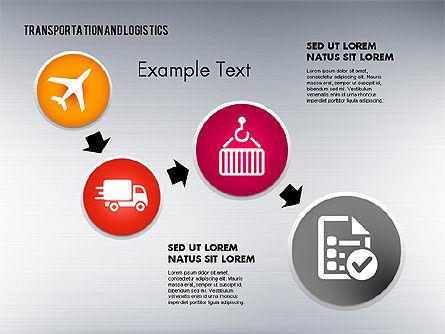 Transportation and Logistics Process with Icons, Slide 2, 01773, Business Models — PoweredTemplate.com
