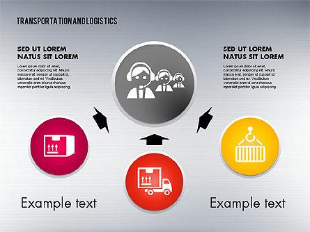 Transportation and Logistics Process with Icons, Slide 4, 01773, Business Models — PoweredTemplate.com