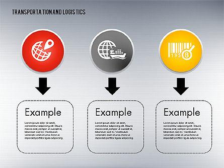 Transportation and Logistics Process with Icons, Slide 5, 01773, Business Models — PoweredTemplate.com