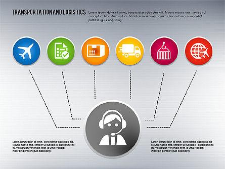 Transportation and Logistics Process with Icons, Slide 7, 01773, Business Models — PoweredTemplate.com