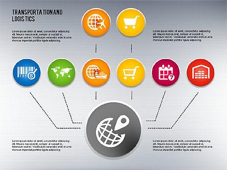 Transportation and Logistics Process with Icons, Slide 8, 01773, Business Models — PoweredTemplate.com