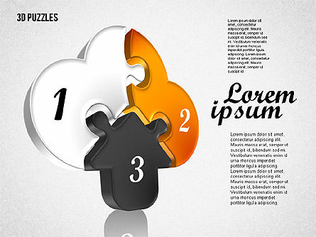 Puzzle Diagrams: Puzzle Formen in 3d #01774