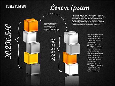 Cubes Concept Diagram, Slide 10, 01775, Business Models — PoweredTemplate.com