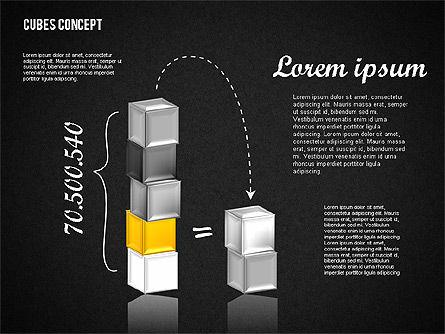 Cubes Concept Diagram, Slide 11, 01775, Business Models — PoweredTemplate.com