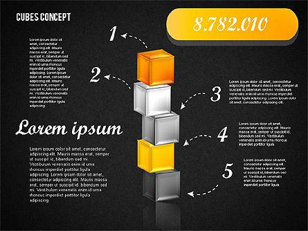 Cubes Concept Diagram, Slide 12, 01775, Business Models — PoweredTemplate.com