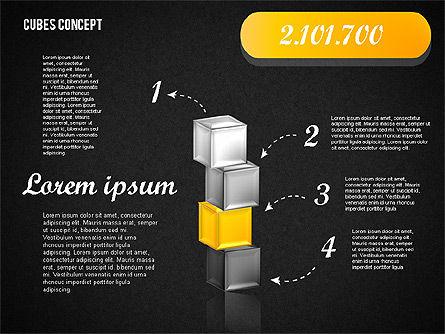 Cubes Concept Diagram, Slide 13, 01775, Business Models — PoweredTemplate.com