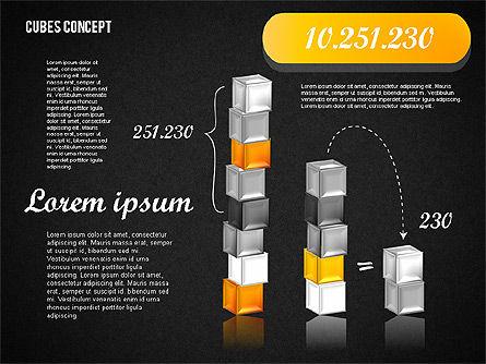 Cubes Concept Diagram, Slide 14, 01775, Business Models — PoweredTemplate.com