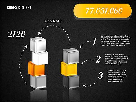 Cubes Concept Diagram, Slide 15, 01775, Business Models — PoweredTemplate.com