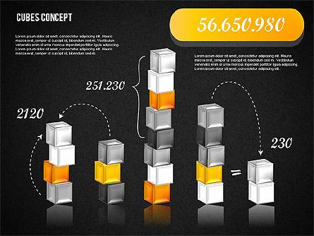 Cubes Concept Diagram, Slide 16, 01775, Business Models — PoweredTemplate.com