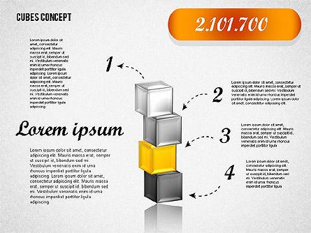 Cubes Concept Diagram, Slide 5, 01775, Business Models — PoweredTemplate.com