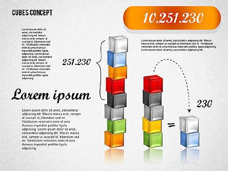 Cubes Concept Diagram, Slide 6, 01775, Business Models — PoweredTemplate.com