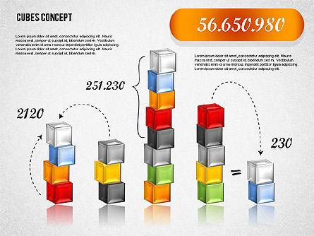 Cubes Concept Diagram, Slide 8, 01775, Business Models — PoweredTemplate.com