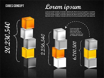 Cubes Concept Diagram, Slide 9, 01775, Business Models — PoweredTemplate.com