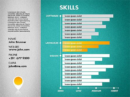 Resume Template, Slide 11, 01776, Presentation Templates — PoweredTemplate.com