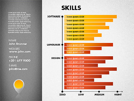 Resume Template, Slide 3, 01776, Presentation Templates — PoweredTemplate.com