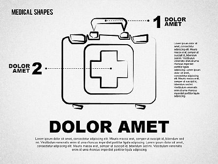 Medical Diagrams and Charts: Medical Sketch Style Shapes #01777