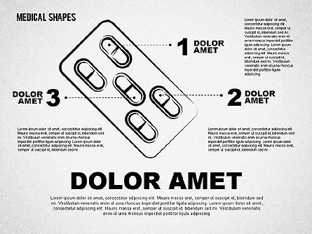 Medical Sketch Style Shapes, Slide 2, 01777, Medical Diagrams and Charts — PoweredTemplate.com