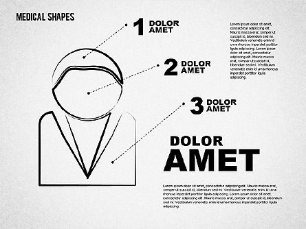 Medical Sketch Style Shapes, Slide 5, 01777, Medical Diagrams and Charts — PoweredTemplate.com
