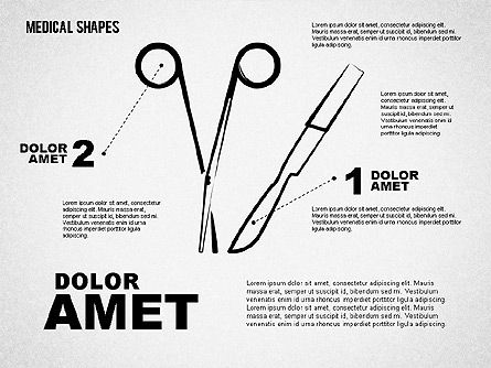 Medical Sketch Style Shapes, Slide 7, 01777, Medical Diagrams and Charts — PoweredTemplate.com