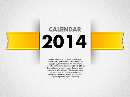 Timelines & Calendars: 2014 Calendar for PowerPoint #01779