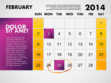 2014 Calendar for PowerPoint Slide 3