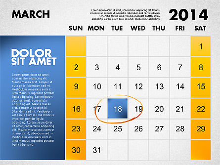 2014 Calendar for PowerPoint Slide 4