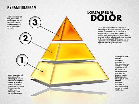 3D Layered Pyramid Diagram, Slide 3, 01788, Business Models — PoweredTemplate.com