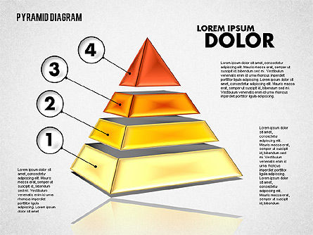 3D Layered Pyramid Diagram, Slide 4, 01788, Business Models — PoweredTemplate.com