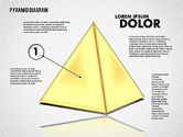 Business Models: 3D Layered Pyramid Diagram #01788