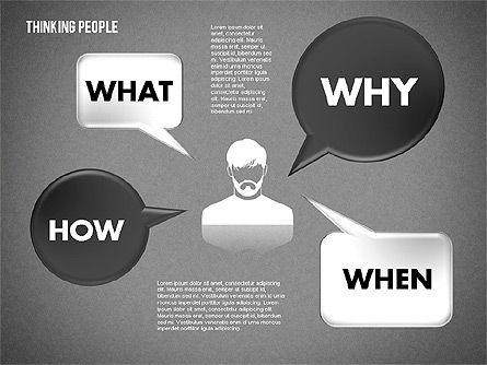 Thinking People Shapes, Slide 10, 01789, Business Models — PoweredTemplate.com