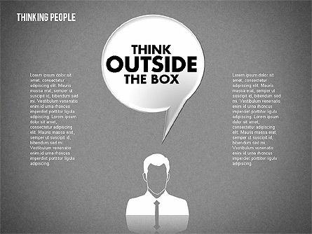 Thinking People Shapes, Slide 11, 01789, Business Models — PoweredTemplate.com