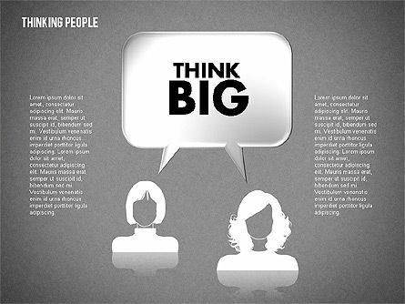 Thinking People Shapes, Slide 13, 01789, Business Models — PoweredTemplate.com