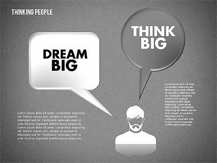 Thinking People Shapes, Slide 14, 01789, Business Models — PoweredTemplate.com