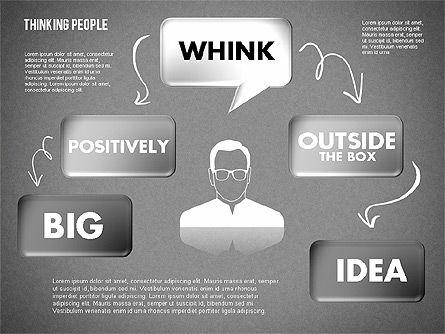 Thinking People Shapes, Slide 15, 01789, Business Models — PoweredTemplate.com