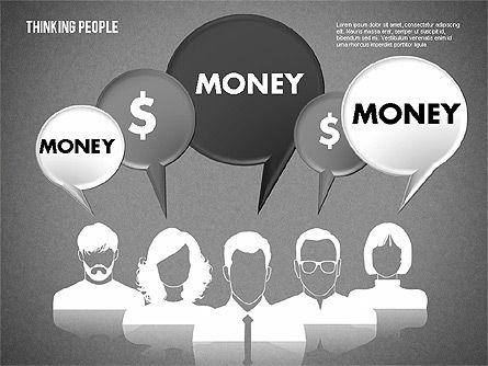 Thinking People Shapes, Slide 16, 01789, Business Models — PoweredTemplate.com