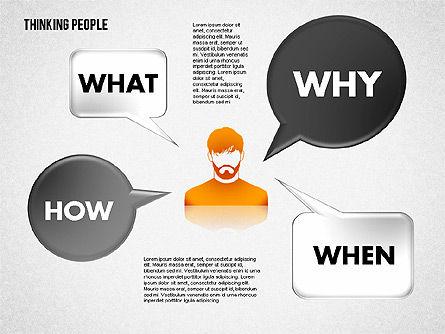 Thinking People Shapes, Slide 2, 01789, Business Models — PoweredTemplate.com