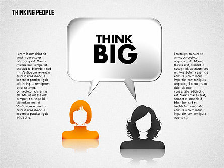 Thinking People Shapes, Slide 5, 01789, Business Models — PoweredTemplate.com