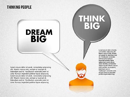 Thinking People Shapes, Slide 6, 01789, Business Models — PoweredTemplate.com