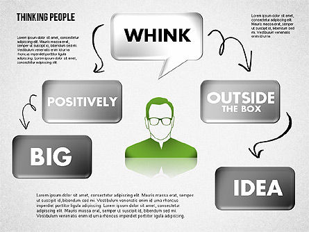 Thinking People Shapes, Slide 7, 01789, Business Models — PoweredTemplate.com