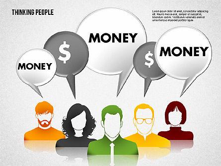 Thinking People Shapes, Slide 8, 01789, Business Models — PoweredTemplate.com