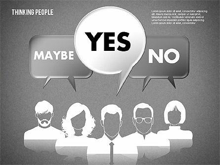 Thinking People Shapes, Slide 9, 01789, Business Models — PoweredTemplate.com