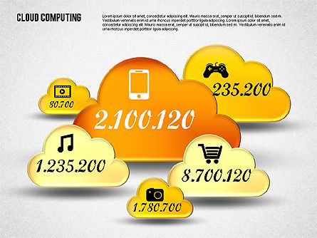 Cloud Computing Shapes, Slide 2, 01790, Business Models — PoweredTemplate.com