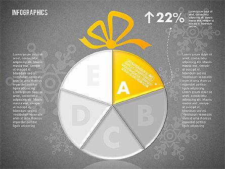 Christmas Decoration Pie Chart, Slide 10, 01791, Pie Charts — PoweredTemplate.com