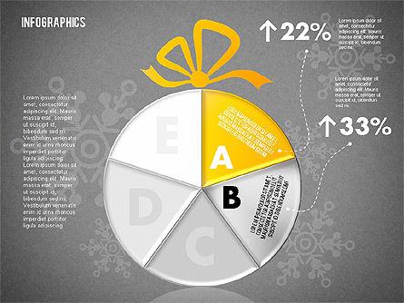 Christmas Decoration Pie Chart, Slide 11, 01791, Pie Charts — PoweredTemplate.com