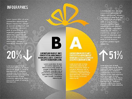 Christmas Decoration Pie Chart, Slide 15, 01791, Pie Charts — PoweredTemplate.com