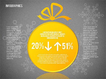 Christmas Decoration Pie Chart, Slide 16, 01791, Pie Charts — PoweredTemplate.com