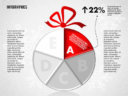 Christmas Decoration Pie Chart, Slide 2, 01791, Pie Charts — PoweredTemplate.com